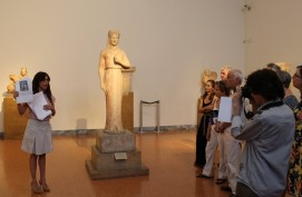 """""""Γλυπτικός λόγος"""" σε διάλογο με τις αρχαιότητες. Παρουσίαση από την Αρ. Κλωνιζάκη"""